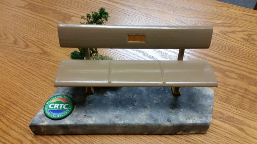 Benches made of recycled composite material